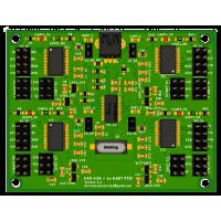 4 kanálový USB-UART prevodník
